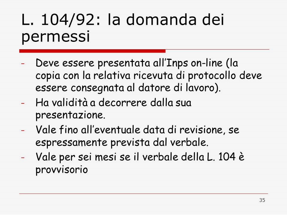 legge 104 controlli inps